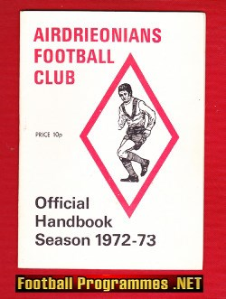 Airdrieonians Football Club Handbook 1972 - 1973