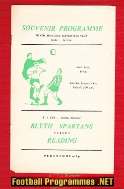 Blyth Spartans v Reading 1972 - FA Cup 3rd Round