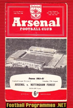 Arsenal v Nottingham Forest 1960