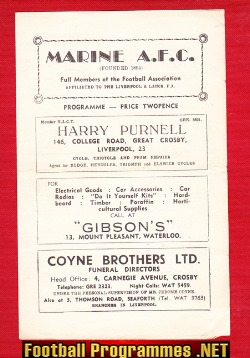 Marine Athletic v Nelson 1961 - Lancashire Combination League