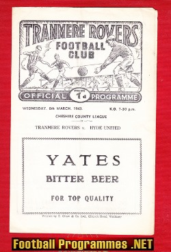 Tranmere Rovers v Hyde United 1963 - Cheshire County League