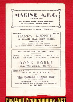Marine Athletic v Morecambe 1962 - Lancashire Combination League