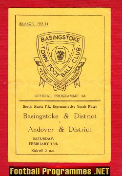 Basingstoke District v Andover District 1954 - Youth Match