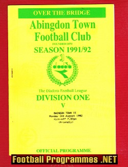 Abingdon Town v Swindon Town 1992 - Friendly Match