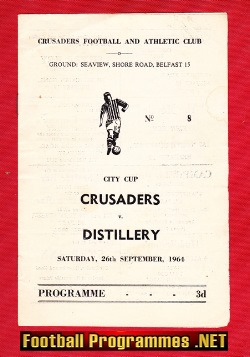 Crusaders v Distillery 1964 - City Cup - Belfast NI