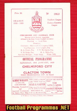 Chelmsford City v Clacton Town 1959