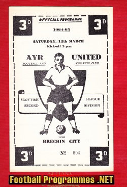 Ayr United v Brechin City 1965