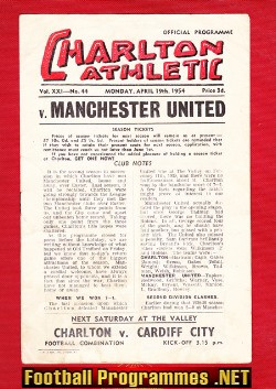 Charlton Athletic v Man Utd 1954
