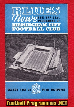 Birmingham City v Burnley 1961