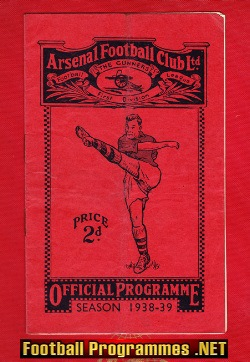 Arsenal v Chelsea 1939 - 1930s pre war Football Programme