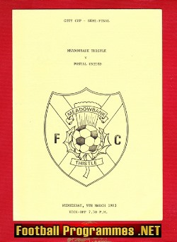 Meadowbank Thistle v Postal United 1983 - City Cup Semi Final
