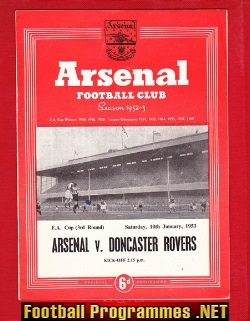 Arsenal v Doncaster Rovers 1953