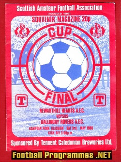 Newarthill Hearts v Ballingry Rovers 1980 - Amateur Cup Final