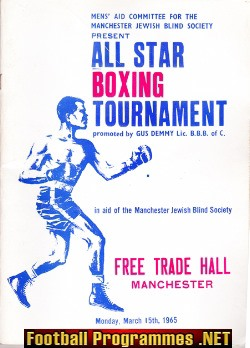 All Star Boxing Tournament Jewish Blind Society Manchester 1965