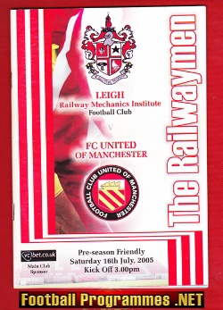 Leigh Football Club v FC United Of Manchester 2005 - 1st SIGNED