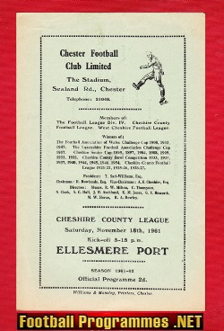 Chester v Ellesmere Port 1961 - Cheshire County League