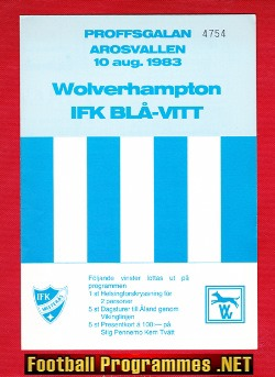 IFK Vasteras v Wolves 1983 - Friendly Match Sweden