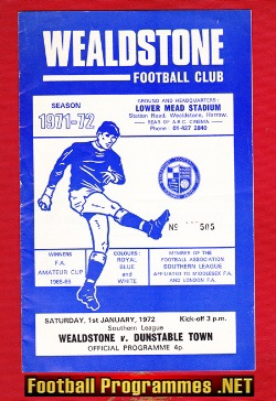 Wealdstone v Dunstable Town 1972 - Southern League