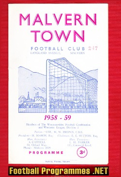 Malvern Town v Brierley Hill 1958