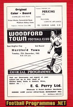 Woodford Town v Hertford Town 1960 - East Anglia Cup