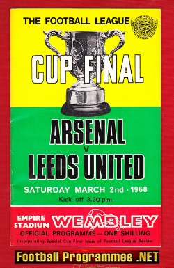 Arsenal v Leeds United 1968 - League Cup Final