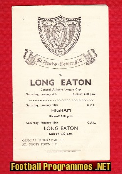 St Neots Town v Long Eaton 1950s