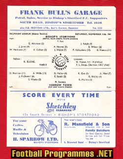 Bishops Stortford v Harrow Town 1961