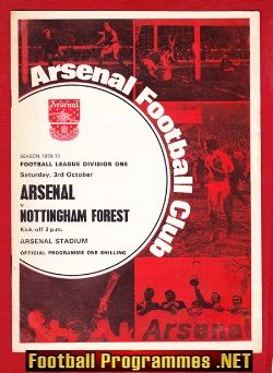 Arsenal v Nottingham Forest 1970