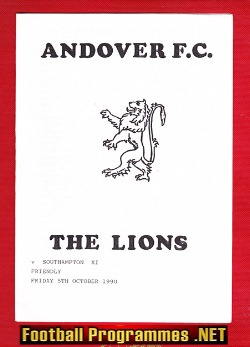 Andover v Southampton 1990 - Friendly Match