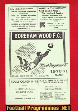 Enfield v Boreham Wood 1971 - London Cup Semi Final Replay