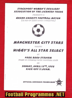 Higgys All Stars v Man City 1998 - Friendly Match at Cheadle