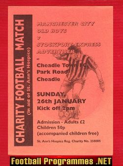 Stockport Express v Man City 2000 - Friendly Match Cheadle