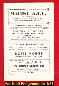 Marine Athletic v Frickley Colliery 1963