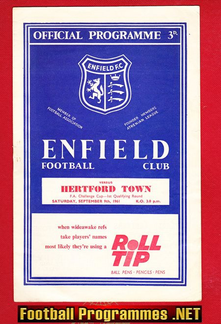 Enfield v Hertford Town 1961 - FA Cup Match