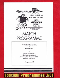South East Sussex v Harlow 1997 - U15 Schoolboys Little Common