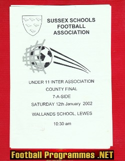 Sussex Under 11 7 A Side Cup Final 2002 - Wallands School Lewes