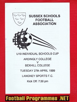 Ardingly College v Bexhill College 1999 - at Langney Sports FC