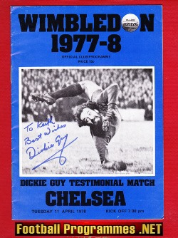 Dickie Guy Testimonial Benefit Match Wimbledon 1978 Signed