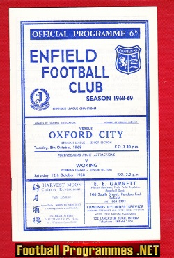 Enfield v Oxford City 1968