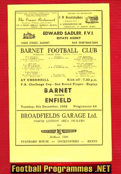 Barnet v Enfield 1964 - FA Cup Replay