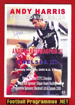 Andy Harris Testimonial Benefit Match Newcastle United Signed