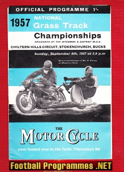 Chiltern Hills National Grass Track Championship 1957