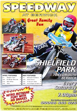 Berwick Bandits Speedway Advertising Poster 1980s