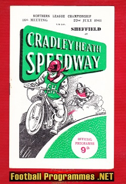 Cradley Heath Speedway v Sheffield 1961