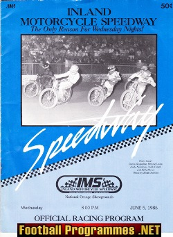 America Inland Motorcycle Speedway Orange Showgrounds 1985