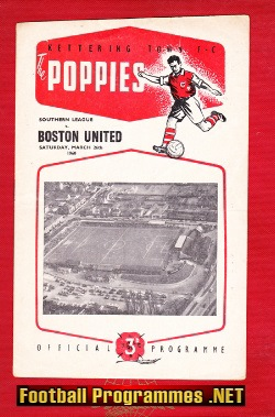 Kettering Town v Boston United 1960