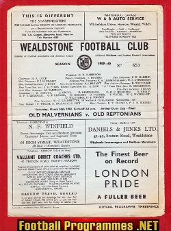 Old Malvernians v Old Reptonians 1960 - Final at Wealdstone