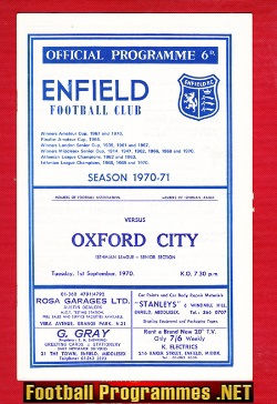 Enfield v Oxford City 1970