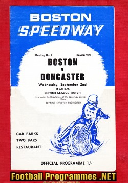 Boston Speedway v Doncaster 1970 - British League Match