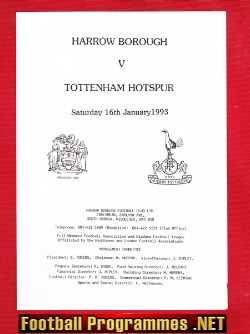 Harrow Borough v Tottenham 1993 - Friendly Match